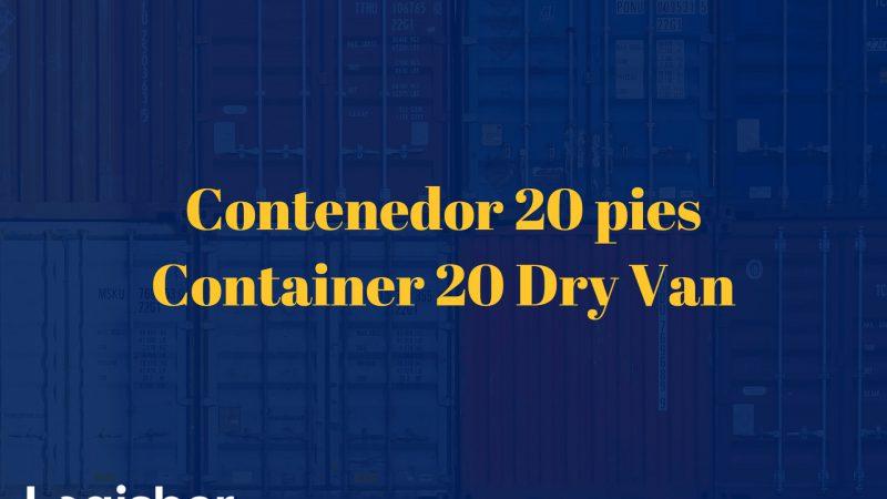 Contenedor 20 pies - Container 20 Dry Van