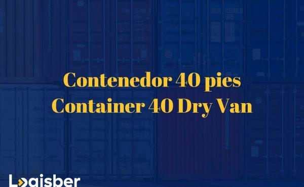 Contenedor 40 pies - Container 40 Dry Van