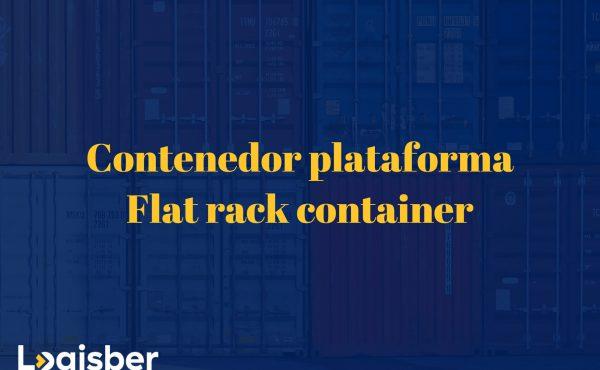 Contenedor plataforma – flat rack container