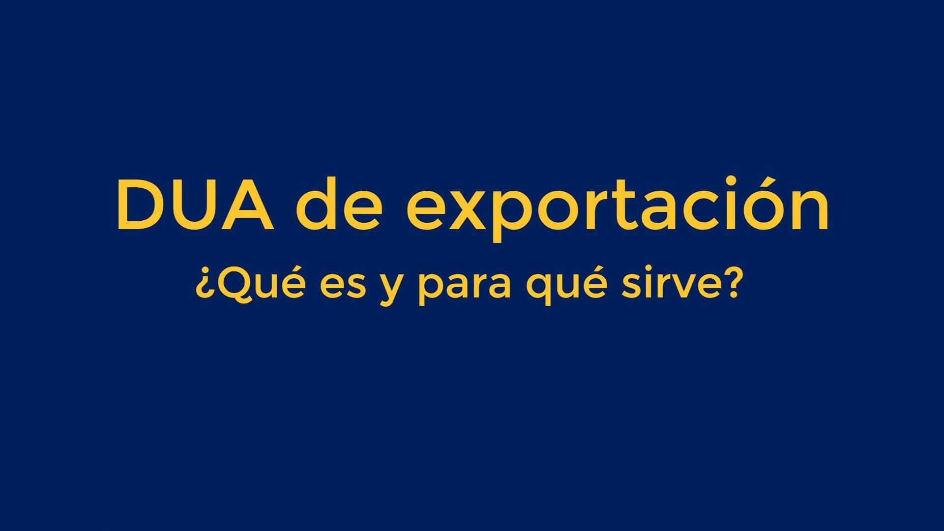 DUA de exportación