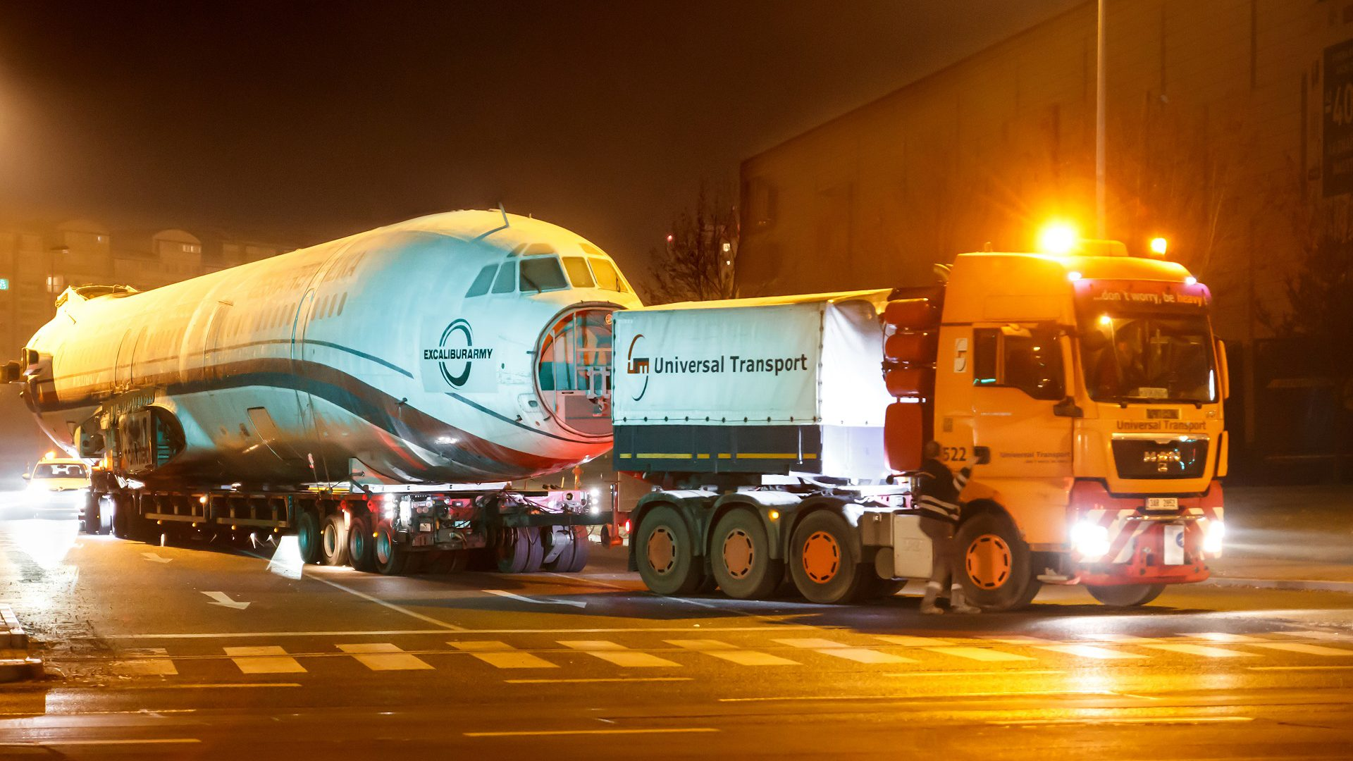 Transporte internacional de carga sobredimensionada